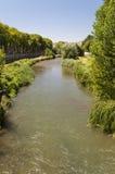 Река Arlanzon, Бургос стоковое изображение rf