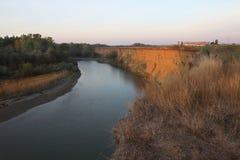 Река Assa, или Sunzha, около города Грозного реки, Чечня стоковые фото