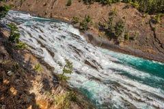 Река Banff смычка, канадские скалистые горы Стоковое Фото