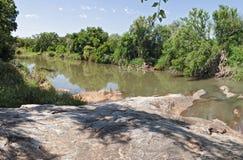 Река Blyde около Hoedspruit, Южной Африки стоковое изображение
