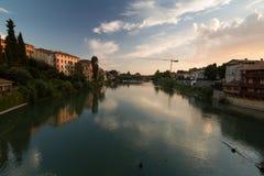 Река Brenta, взгляд от известной стоковое фото rf