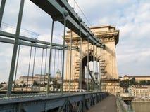 река budapest цепное danube моста Стоковое Изображение RF