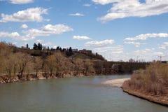 река calgary n смычка alberta Стоковые Фото