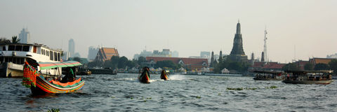 Река Chao Pra Ya Стоковое Изображение RF