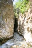 Река Chillar, Nerja, Малага Стоковые Изображения