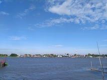 Река Choapraya стоковые фотографии rf