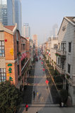 Река Chu и улица Хана Стоковое Изображение
