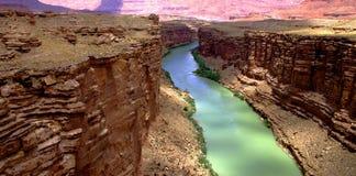 река colorado каньона мраморное Стоковые Изображения RF