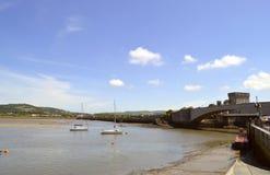 Река Conwy в северном Уэльсе стоковое фото rf