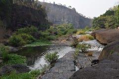 Река Da Nhim около pongour, Вьетнама в засушливом сезоне Стоковое Изображение RF