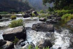 Река Da Nhim около pongour, Вьетнама в засушливом сезоне Стоковые Изображения