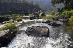 Река Da Nhim около pongour, Вьетнама в засушливом сезоне Стоковые Фото