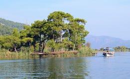 Река Dalaman в Турции стоковая фотография rf