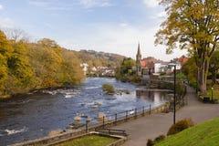 Река Dee и Llangollen Стоковая Фотография RF