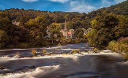 Река Dee на Llangollen Стоковая Фотография