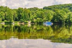 Река Delaware на лете от исторической новой надежды, PA стоковые фотографии rf