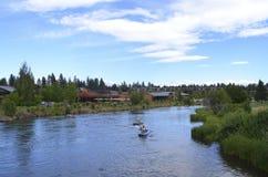 Река Deschutes в загибе, Орегоне стоковое изображение rf