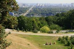 Река Dnieper, Киев Стоковое Фото