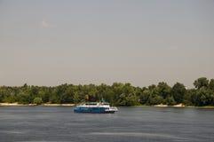 Река Dnipro в Киеве Лето Стоковые Изображения RF