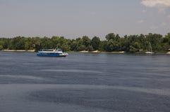 Река Dnipro в Киеве Лето Стоковое фото RF