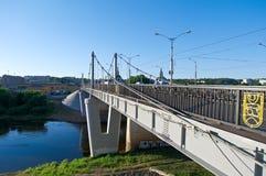 Река Dnipro и мост Стоковые Изображения