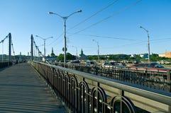 Река Dnipro и мост Стоковое Фото