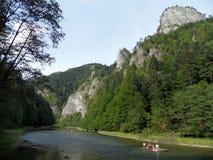 Река Dunajec, Словакия стоковая фотография rf