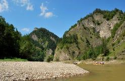 Река Dunajec стоковое изображение