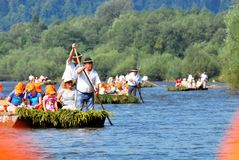 Река Dunajec Стоковое Фото