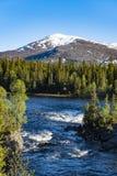 Река Enan Jamtland Швеция Стоковое Изображение RF