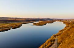 Река Ergun на заходе солнца Стоковое Изображение RF
