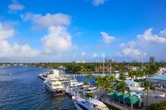 Река Fort Lauderdale Stranahan на A1A Флориде Стоковое Изображение