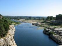 река gard Стоковое Изображение