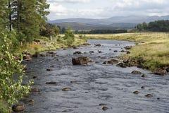 Река Gaur над озером Rannoch стоковые изображения
