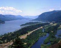 река gorge columbia Стоковые Изображения RF