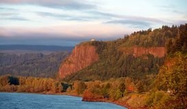 река gorge columbia Стоковая Фотография