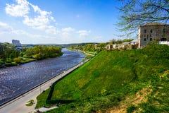 Река Grodno Neman стоковое изображение rf