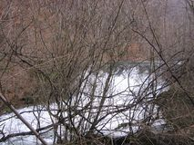 Река Grza в Сербии Стоковая Фотография RF