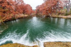 Река Guadalupe в Ingram Техасе Стоковое Изображение