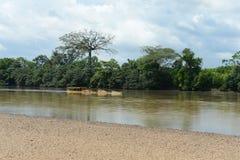 Река Guayabero в Колумбии Стоковая Фотография