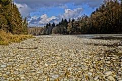Река HDR Изара Стоковое Изображение RF