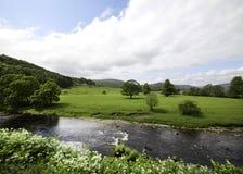 Река Hodder полей Стоковое Изображение