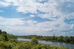 Река Hoper в городе Balashov стоковое фото rf