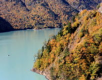 Река Inguri в Georgia Стоковое Фото