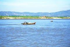 Река Irrawaddy или река Ayeyarwady река которое пропускает fr Стоковая Фотография RF