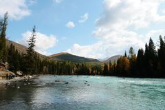 река kanas Стоковые Фото