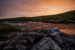 Река Karasjokka Стоковые Изображения