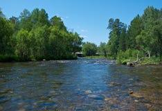 Река Kika горы Стоковые Фото