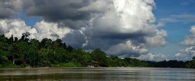 Река Kinabatangan Стоковая Фотография RF