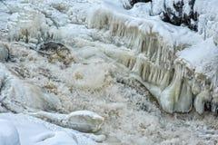 Река Kitkajoki Финляндия Стоковое фото RF